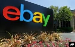 eBay在美國加州辦公室前的標識。