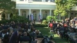Претседателот Трамп, домаќин на грчкиот премиер Ципрас