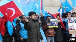 Turkiyada yashayotgan uyg'urlar namoyishi, 5-fevral, 2020
