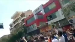 شعار «این ماه، ماه خونه، آخوند سرنگونه» در تظاهرات شیراز