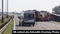 Autobus sletio sa ceste kod Slavonskog Broda, 25. juli 2021.