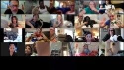 VOA英语视频: 美加孩童通过视频为狗朗读一举两得