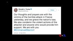 川普總統譴責法國的襲擊事件 (粵語)