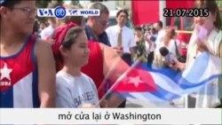 Chính thức mở cửa lại đại sứ quán Cuba tại Mỹ (VOA60)
