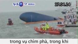 Có thể còn người sống sót trong vụ chìm phà ở Hàn Quốc (VOA60)