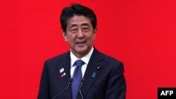 Le Premier ministre japonais Shinzo Abe, à Tokyo le 24 juillet 2019.