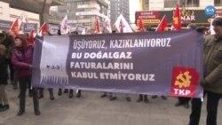Ankara'da Yüksek Doğalgaz Faturaları Protesto Edildi