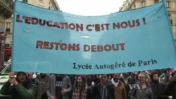French Students Protest Government Education Reform