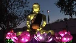 ชาวอเมริกันทึ่งเทศกาลโคมไฟจีนในรัฐแคลิฟอร์เนีย