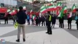 تجمع مخالفان جمهوری اسلامی در استکهلم: جمهوری اسلامی نابود باید گردد