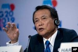 日本副首相兼財務大臣麻生太郎。(資料圖片)