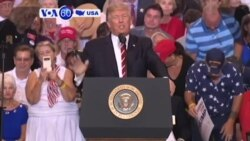 VOA60 America - President Donald Trump elevated his us-against-them mantra at a campaign-style rally in Arizona