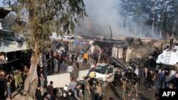28 Nisan 2020 - Afrin'de bir yakıt kamyonunun patlaması sonucu aralarında en az 6 Türkiye destekli Suriyeli savaşçının da olduğu 36 kişi hayatını kaybetti