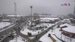 بھارتی کشمیر میں شدید برف باری