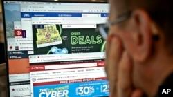 美國節日在線購物火爆