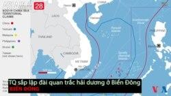 Trung Quốc sắp lập đài quan trắc hải dương ở Biển Đông (VOA60 châu Á)