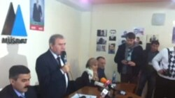 Milli Şurasının prezidentliyə namizədi Cəmil Həsənlinin seçki təşviqatının yekunu ilə bağlı hesabat