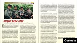 En la comunicación de la Nueva Marquetalia, como se conoce la disidencia de las FARC, el grupo armado exige la renuncia del presidente Iván Duque.