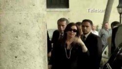 Cristina Fernández visita a Chávez