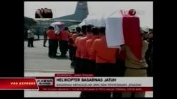Trực thăng cứu nạn Indonesia rơi trên đường đến địa điểm sơ tán