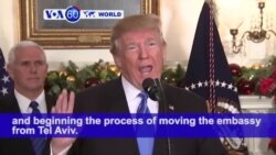 VOA60 World PM - Trump Recognizes Jerusalem as Israeli Capital