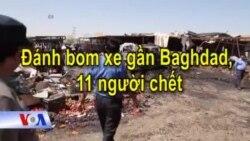 Đánh bom xe gần Baghdad, 11 người chết