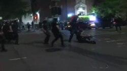 Imagens de protestos na América
