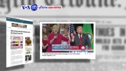 VOA60 Elections - NBC News: Clinton holds a slim lead over Trump
