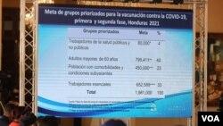 Planes de vacunación del gobierno de Honduras.