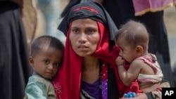 تصویر آرشیوی از یک زن مسلمان روهینگیا