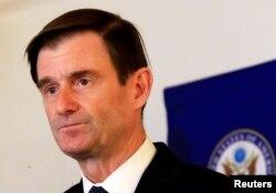 U.S. Under Secretary for Political Affairs David Hale addresses a news conference at U.S. Embassy in Khartoum, Aug. 7, 2019.