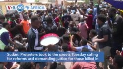 VOA60 Africa - Sudan: Thousands Rally for Faster Reform