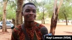 Vincent, étudiant togolais.