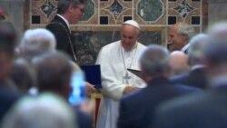 El papa Francisco recibe prestigioso premio europeo