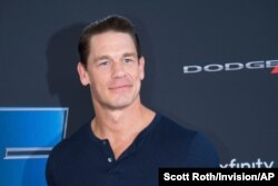 """FILE - Actor John Cena attends the Road to """"Fast & Furious 9"""" Concert at Maurice A. Ferre Park inMiamiBeach, Fla."""
