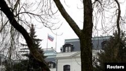 체코 주재 러시아 대사관 전경 (자료사진)