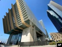 IIn this Dec. 31, 2019 photo, the Abu Dhabi Global Market, an economic free zone, is seen in Abu Dhabi, UAE.