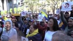 Venezolanos en Miami protestaron contra Maduro