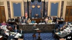 ABŞ Senatında prezident Trampın impiçment məhkəməsi keçirilir, 24 yanvar, 2020.