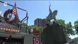 Осквернение памятников и протесты против полицейского насилия в Чикаго