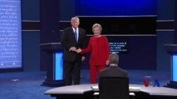 克林顿与川普在第一场辩论中激烈交锋
