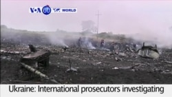 VOA60 World - Investigators: Missile that Downed MH17 was Brought in from Russia