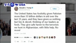 VOA60 America- Protesters decry anti-Pakistan tweet by President Donald Trump