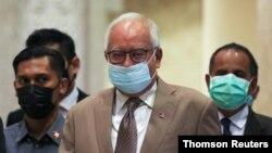 Former Malaysian Prime Minister Najib Razak arrives at Court of Appeal in Putrajaya