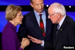 Elizabeth Warren razgovara Berniejem Sandersom