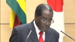 Zimbabwe President Addresses Media In Japan