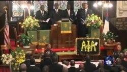南卡民众为枪击案遇难者举行葬礼