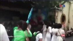 Công an đàn áp thô bạo cuộc biểu tình bảo vệ cây xanh