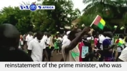 VOA60 Africa - Guinea Bissau: Some 1,000 marchers call for the reinstatement of the prime minister - August 19, 2015