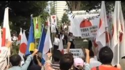 2012-09-22 美國之音視頻新聞: 日本示威者反對中國聲稱擁有釣魚島
